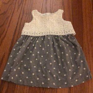 Baby GAP Jersey Polka Dot and Lace Top Dress